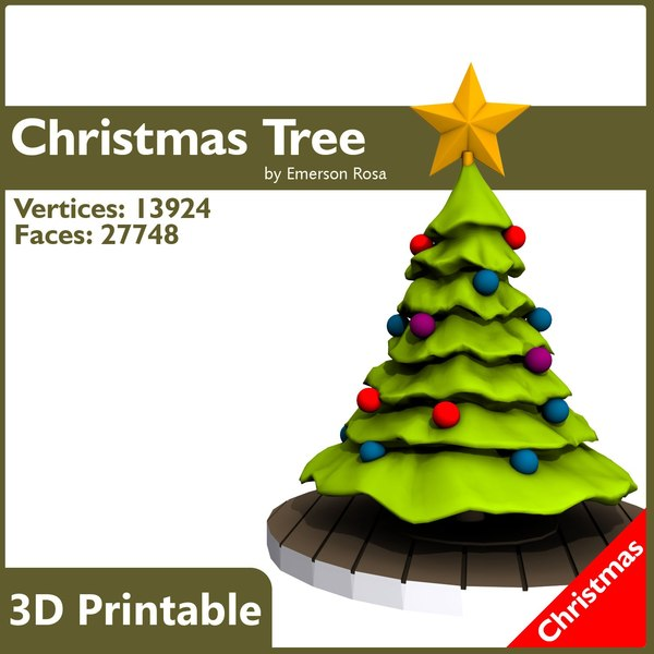 3d model of cartoon christmas
