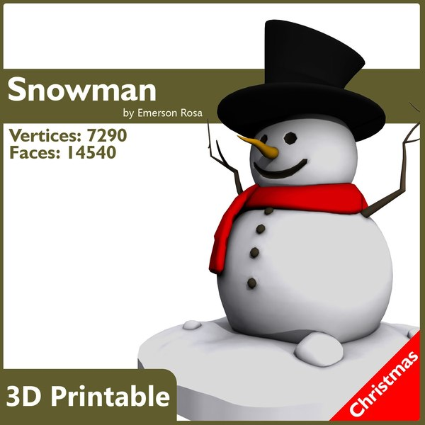 3d cartoon print-ready christmas model