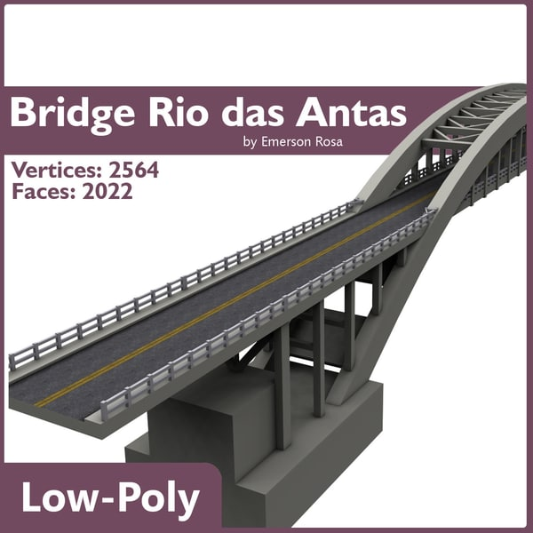 rio das antas bridge 3d model