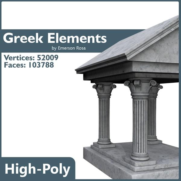 greek 3d model