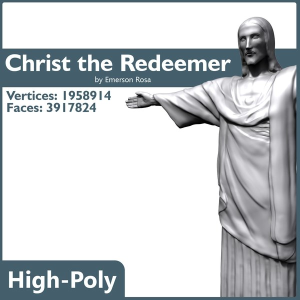 high-poly christ 3d model