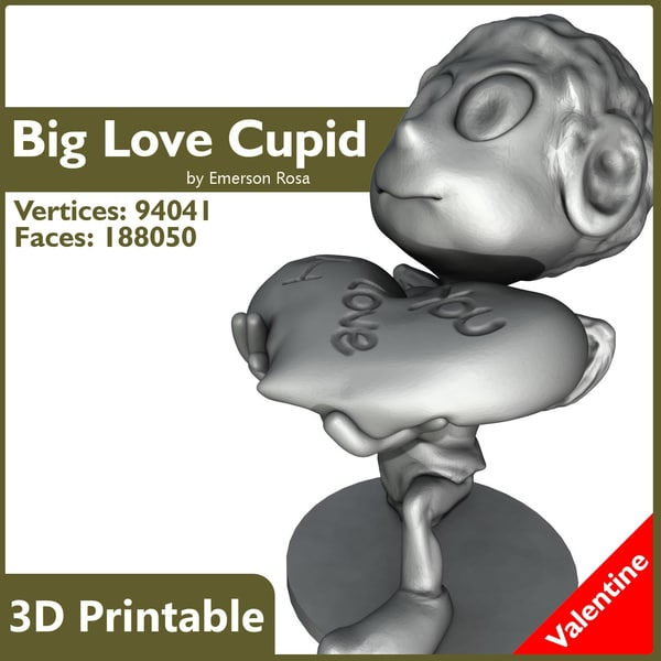 Valentine 3D Printable - Big Love