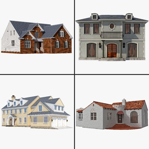 3d neighborhood house