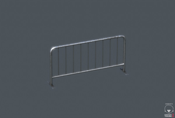 metal barrier 3d model