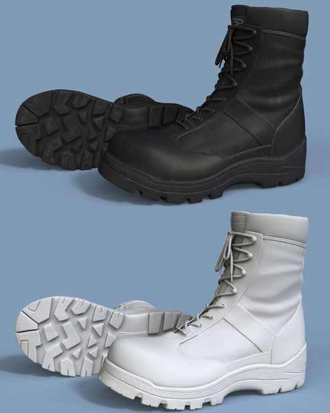 military spec ops boots 3d model