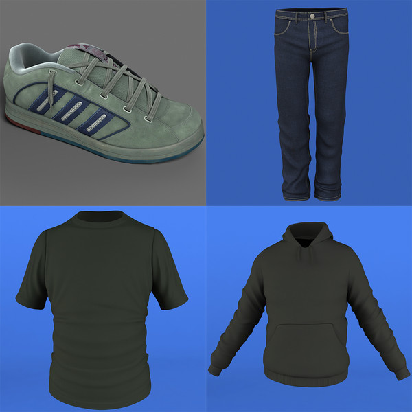 3d model pack man cloth