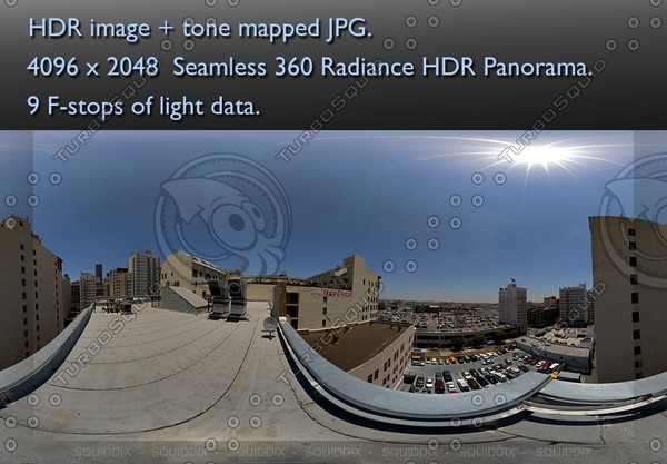 CITY HIGHRISE ROOF TOP DAY 1 360 HDR PANORAMA # 238