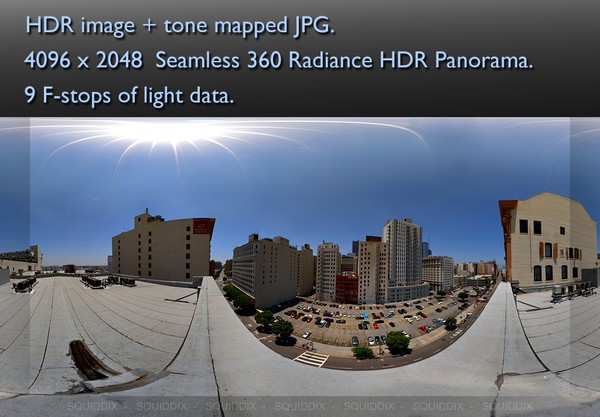 CITY HIGHRISE ROOF TOP DAY 2 360 HDR PANORAMA # 240
