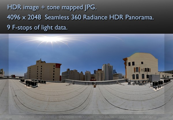 CITY HIGHRISE ROOF TOP DAY 3 360 HDR PANORAMA # 241