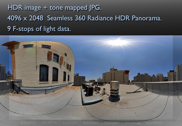 CITY HIGHRISE ROOF TOP DAY 4 360 HDR PANORAMA # 242