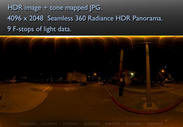 UNDER A STREET LIGHT AT NIGHT 360 HDR PANORAMA # 284