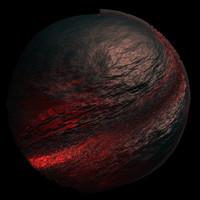 scifi black red sphere shader AA14417.TAR