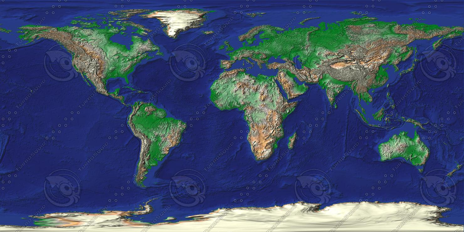 Texture jpg world map earth