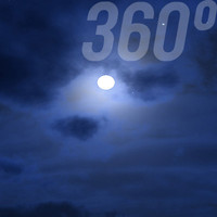 360° Sky Texture: Full Moon