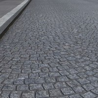 High Resolution Cobblestones Street and Sidewalk Texture 2-Lanes.zip