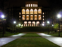 T. Young Library -Night Panorama