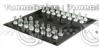 glass chess set.psd