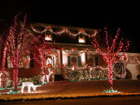 xmas lights house