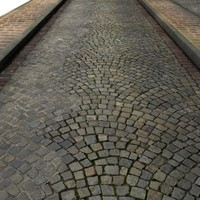 High Resolution Cobblestones Street and Sidewalk Texture 1-Lane.jpg