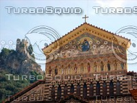 Close-up of Amalfi church 0246.JPG
