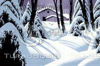 Snow Covered Barn / SN-116