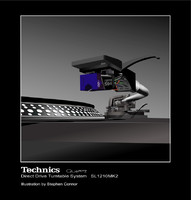 Technics 1210 Tunrtable Vector Illustration