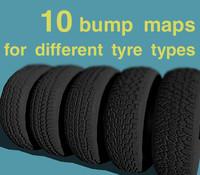 10 tyres - bump maps