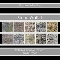 10 Tileable Stone Wall Textures - 2048 x 2048