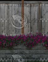 Fence flower stone