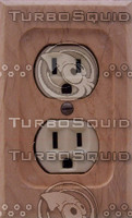 Wooden Electric Outlet