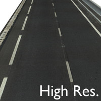 New Asphalt Road 2 & 4 Lanes ----------- High Resolution