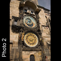 4x Prague astronomic clock
