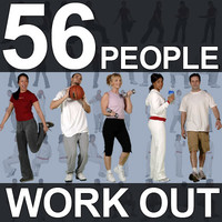 56 Gym People Textures