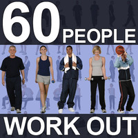 60 Gym People Textures