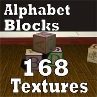 Alphabet Texture Block Collection