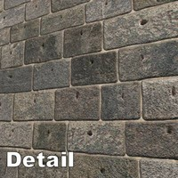 Stone Brick Wall 384 x 384 Seamless + Bump
