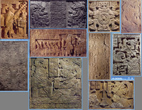 Mesoamerican Texture Pack 2 (Stone reliefs/Steles)