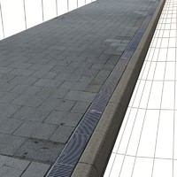 Sidewalk (square paving + grid ) Texture    High Resolution
