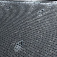 Large Grey Slate Roof High Resolution