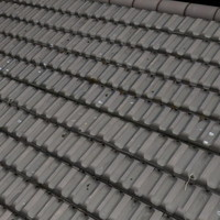 Grey Earthenware Roof Tile ----------------- High Resolution