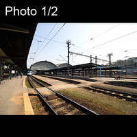 2x Prague central station and switch house