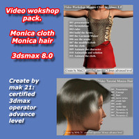 Video Workshop hair-cloth-pack 3dmax8.0