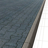Interlocking Block ( I-tiles ) Sidewalk ---- High Resolution