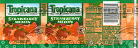 Tropicana Strawberry Melon Bottle Label