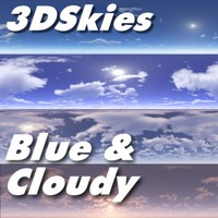 3DSkies Set 1 - Blue & Cloudy