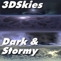 3DSkies Set 3 - Night & Stormy