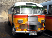 Maltese vintage bus - Perkins