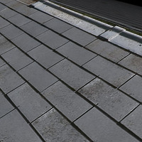 Grey Slate Shingles Roof --------------------- High Resolution