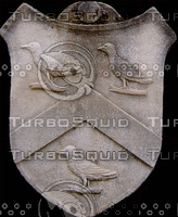 A Stone Shield with 3 Birds