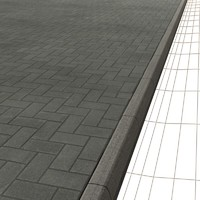 Herringbone Concrete Blocks Sidewalk   High Resolution